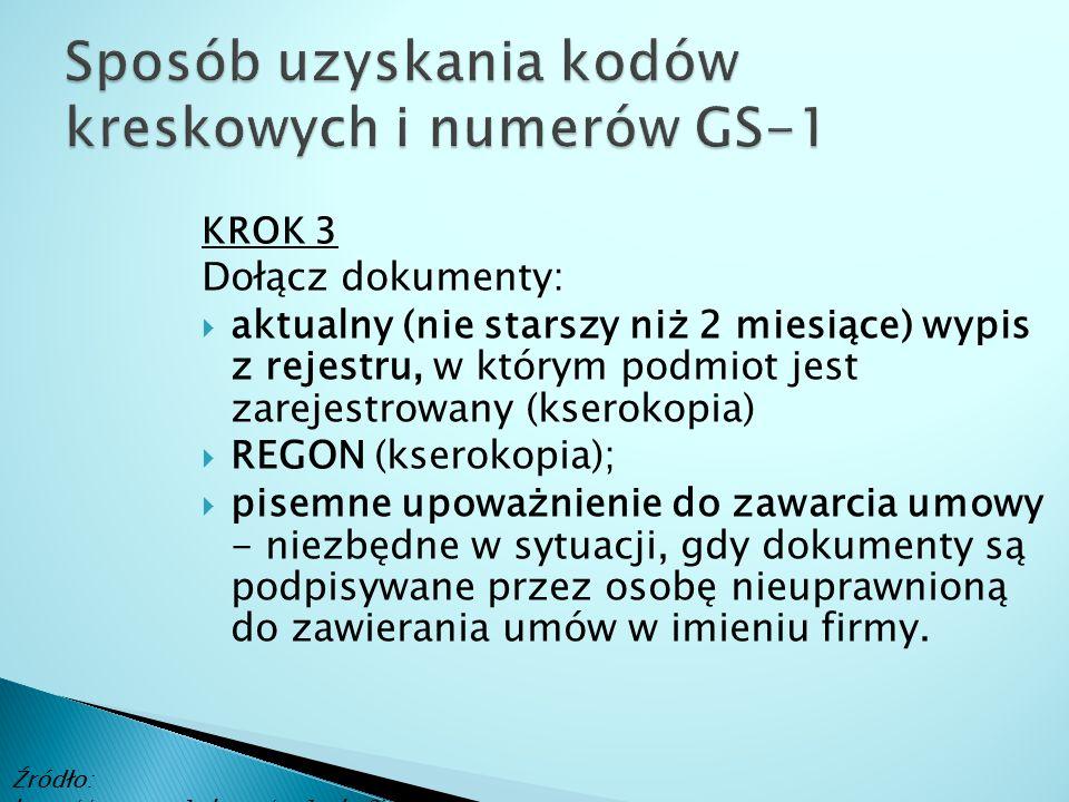 KROK 3 Dołącz dokumenty:  aktualny (nie starszy niż 2 miesiące) wypis z rejestru, w którym podmiot jest zarejestrowany (kserokopia)  REGON (kserokop