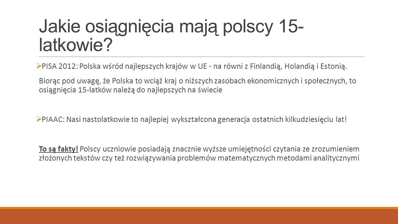 Czego brakuje polskim 15-latkom.