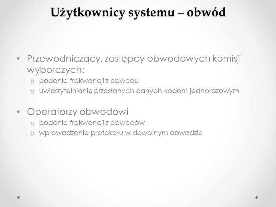 Dalsze losy protokołu w systemie czeka na weryfikację w komisji okręgowej oryginał w kopercie o kopia oryginału na kopercie o raport ostrzeżeń o nośnik z danymi protokołu są przekazywane do Pełnomocnika OKW w gminie Pełnomocnik OKW sprawdza w systemie symbol kontrolny ( wzrokowo ) Pełnomocnik przekazuje protokoły OKW OKW weryfikuje, zatwierdza protokoły.