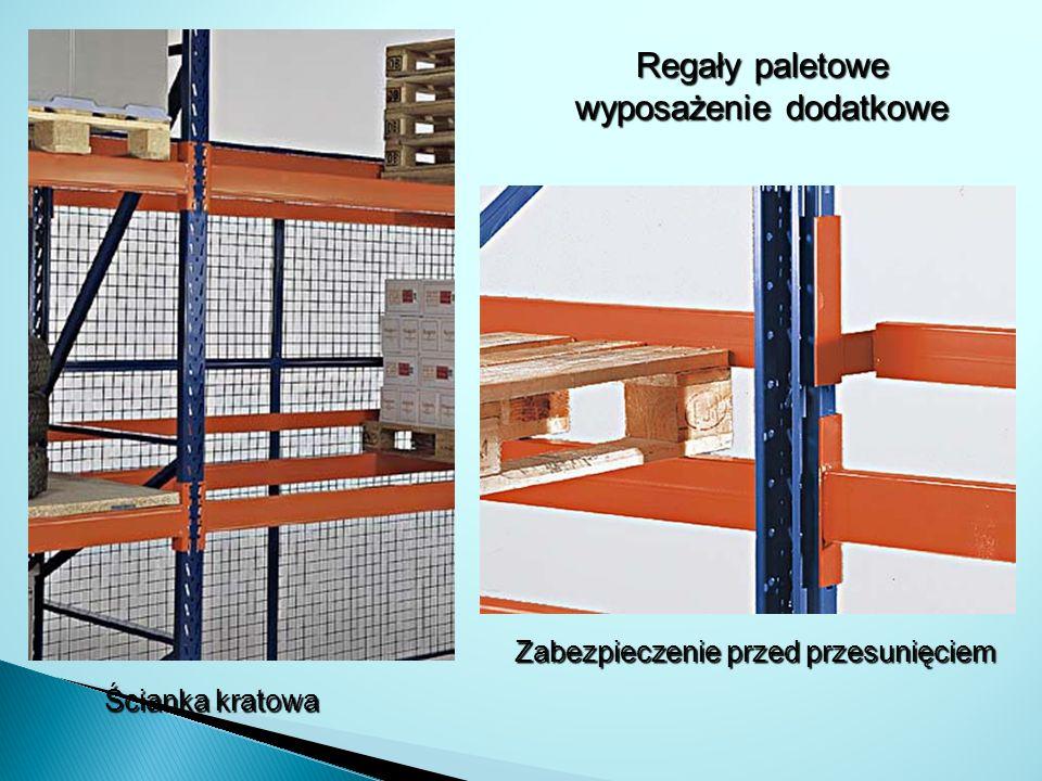 Regały paletowe wyposażenie dodatkowe Ścianka kratowa Zabezpieczenie przed przesunięciem