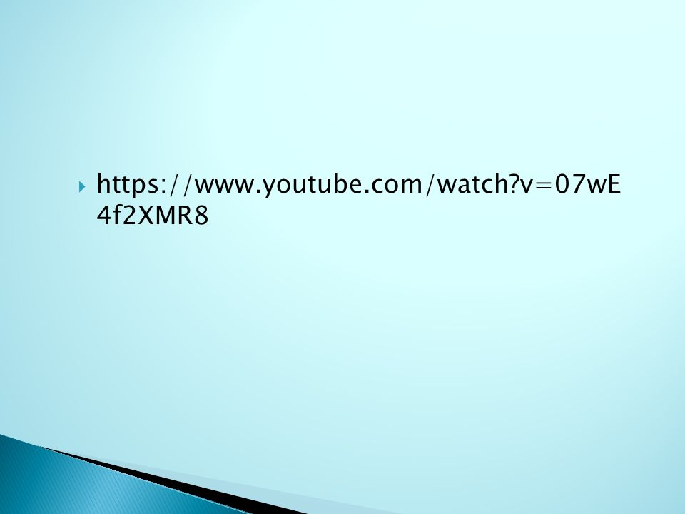  https://www.youtube.com/watch?v=07wE 4f2XMR8