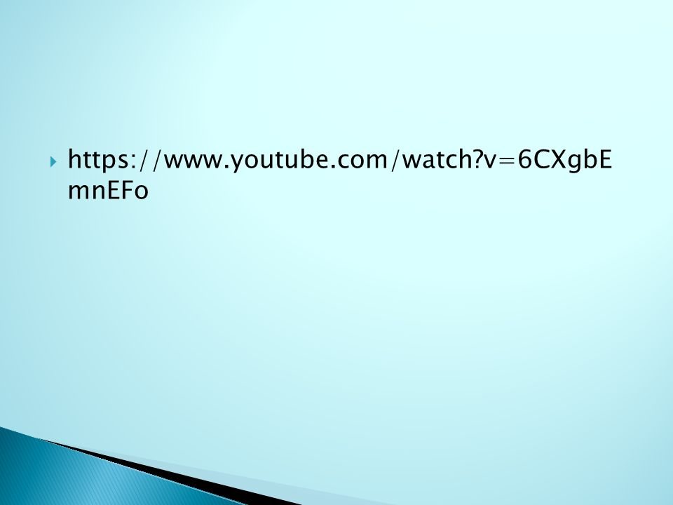  https://www.youtube.com/watch?v=6CXgbE mnEFo