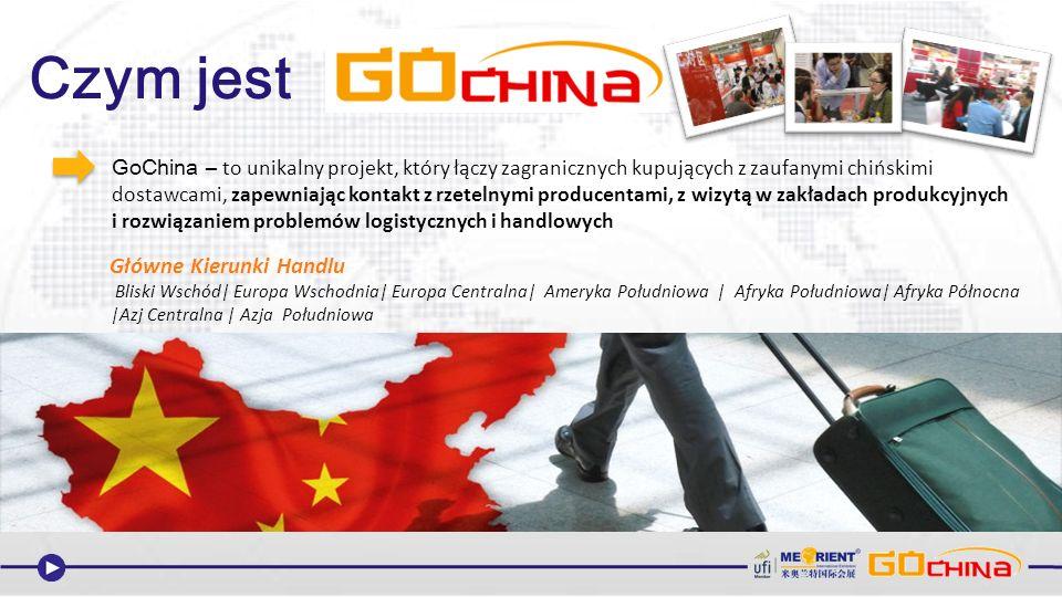 GoChina – to unikalny projekt, który łączy zagranicznych kupujących z zaufanymi chińskimi dostawcami, zapewniając kontakt z rzetelnymi producentami, z wizytą w zakładach produkcyjnych i rozwiązaniem problemów logistycznych i handlowych Czym jest Bliski Wschód| Europa Wschodnia| Europa Centralna| Ameryka Południowa | Afryka Południowa| Afryka Północna |Azj Centralna | Azja Południowa Główne Kierunki Handlu