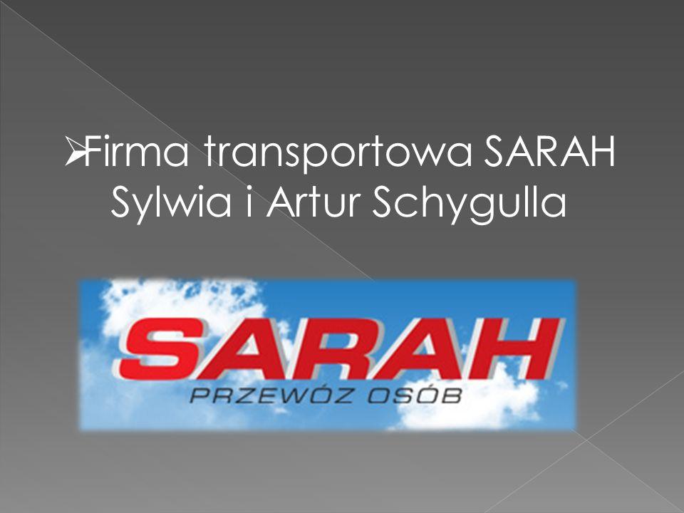  Firma transportowa SARAH Sylwia i Artur Schygulla