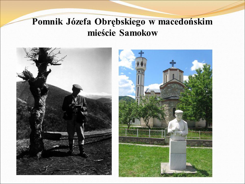 Pomnik Józefa Obrębskiego w macedońskim mieście Samokow