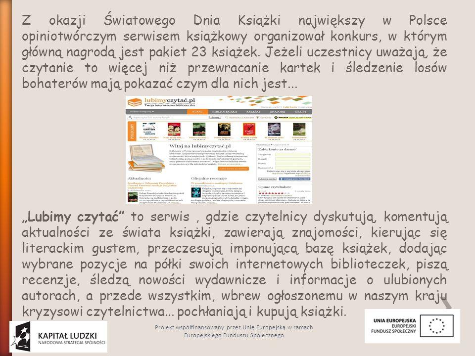 Z okazji Światowego Dnia Książki największy w Polsce opiniotwórczym serwisem książkowy organizował konkurs, w którym główną nagrodą jest pakiet 23 ksi