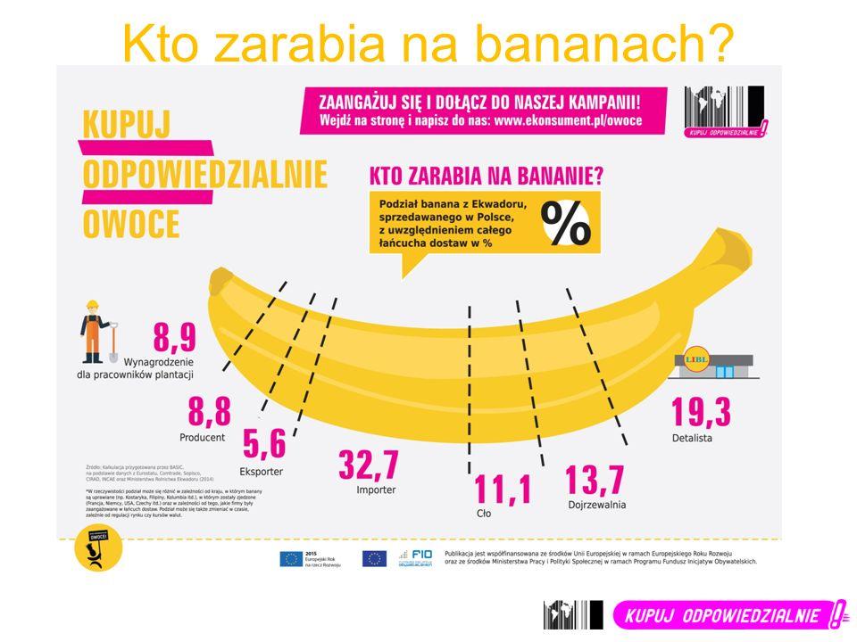 Kto zarabia na bananach?