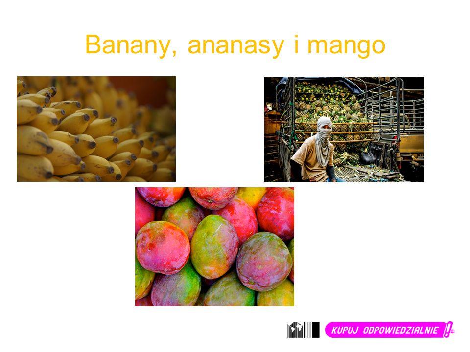 Banany, ananasy i mango