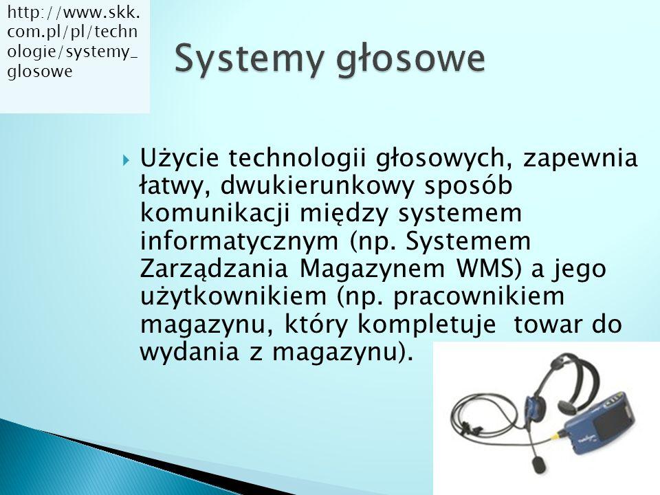  Użycie technologii głosowych, zapewnia łatwy, dwukierunkowy sposób komunikacji między systemem informatycznym (np. Systemem Zarządzania Magazynem WM