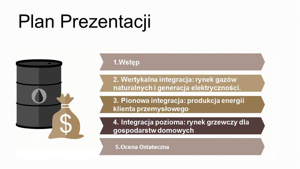 Plan Prezentacji 1.Wstęp 2. Wertykalna integracja: rynek gazów naturalnych i generacja elektryczności. 3. Pionowa integracja: produkcja energii klient