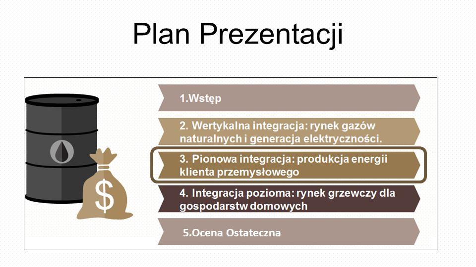 1.Wstęp 2. Wertykalna integracja: rynek gazów naturalnych i generacja elektryczności. 3. Pionowa integracja: produkcja energii klienta przemysłowego 4