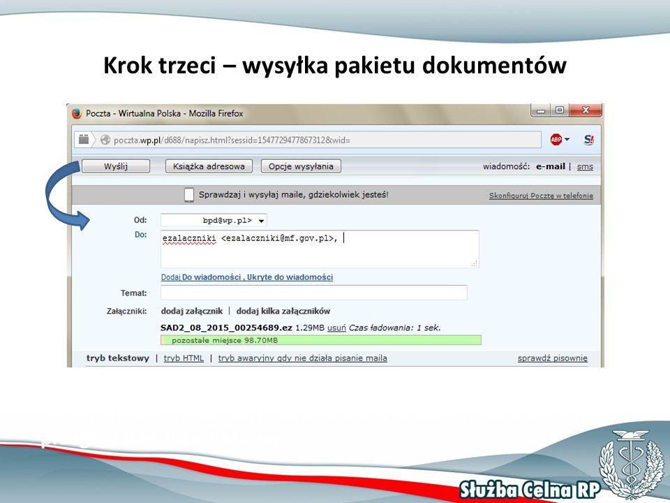Jeżeli zdecydowaliśmy o wysyłce poza aplikacją wówczas wykorzystujemy jakikolwiek dostępny program pocztowy lub przeglądarkę internetową.