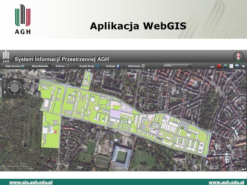 Aplikacja WebGIS www.agh.edu.pl www.gis.agh.edu.pl