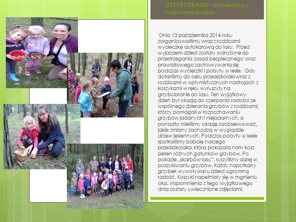 Dnia 13 października 2014 roku zorganizowaliśmy wraz z rodzicami wycieczkę autokarową do lasu.