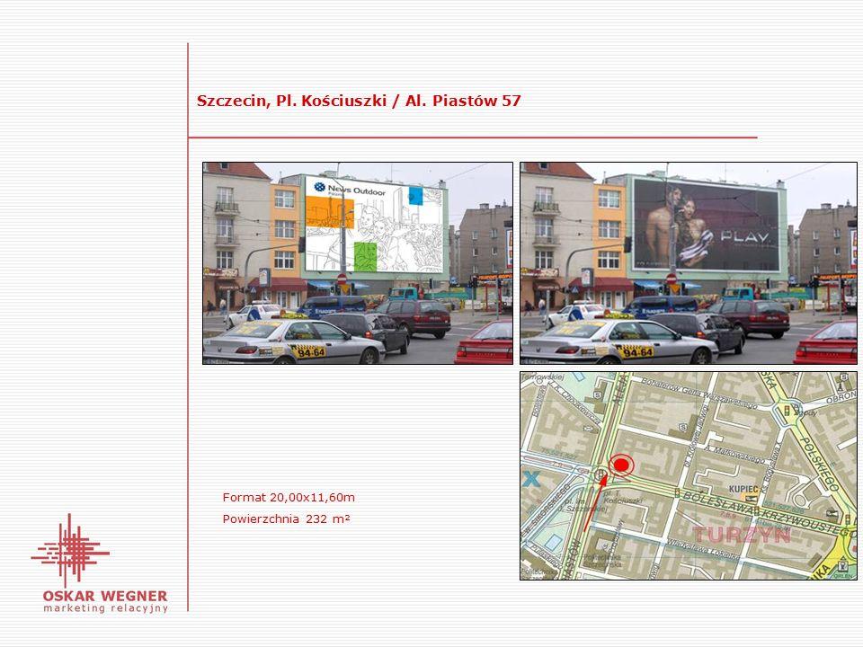 Szczecin, Pl. Kościuszki / Al. Piastów 57 Format 20,00x11,60m Powierzchnia 232 m²