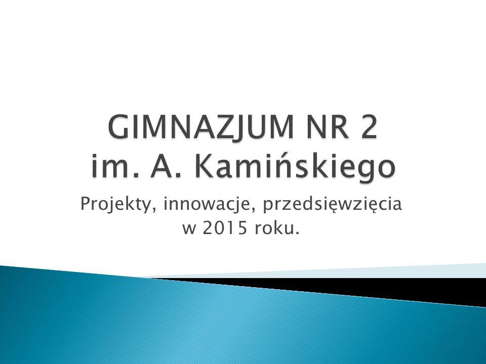 Projekty, innowacje, przedsięwzięcia w 2015 roku.