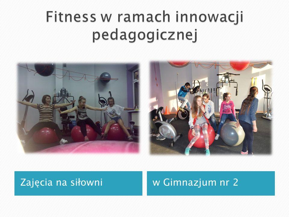 Zajęcia na siłowniw Gimnazjum nr 2