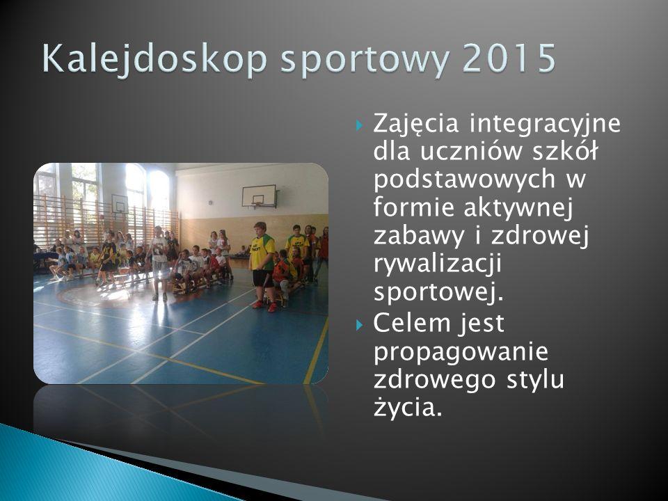  Zajęcia integracyjne dla uczniów szkół podstawowych w formie aktywnej zabawy i zdrowej rywalizacji sportowej.