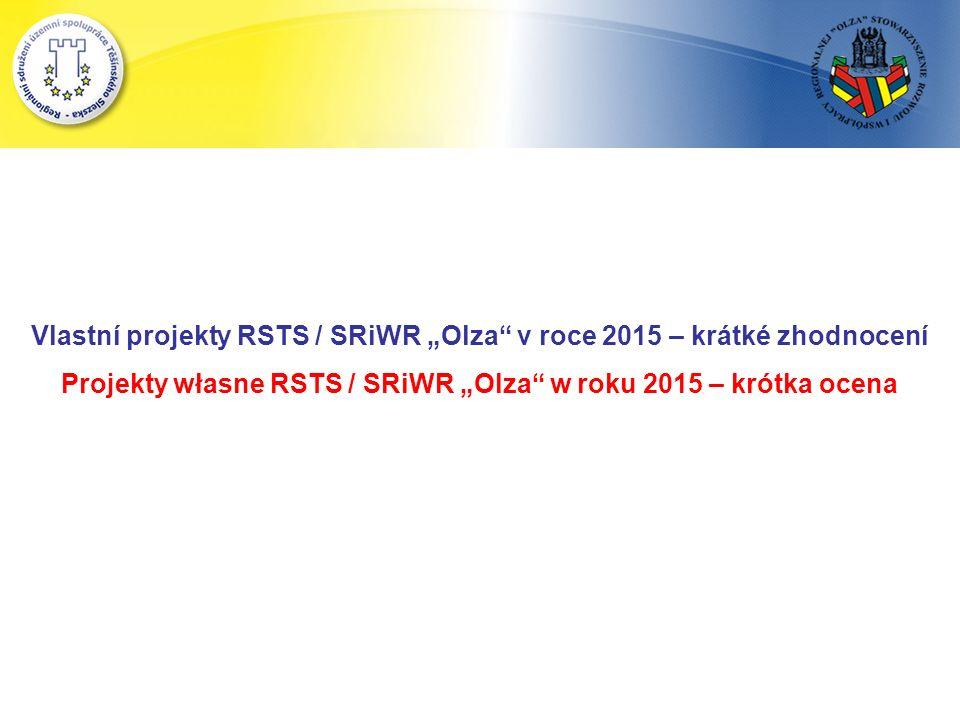 """Vlastní projekty RSTS / SRiWR """"Olza v roce 2015 – krátké zhodnocení Projekty własne RSTS / SRiWR """"Olza w roku 2015 – krótka ocena"""
