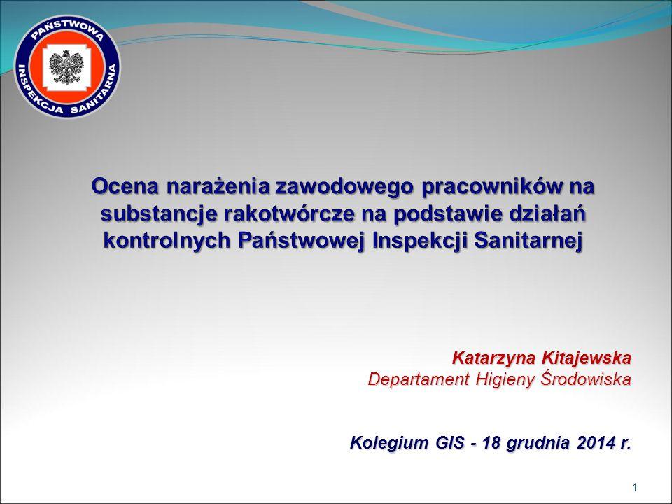 Katarzyna Kitajewska Departament Higieny Środowiska Kolegium GIS - 18 grudnia 2014 r. 1