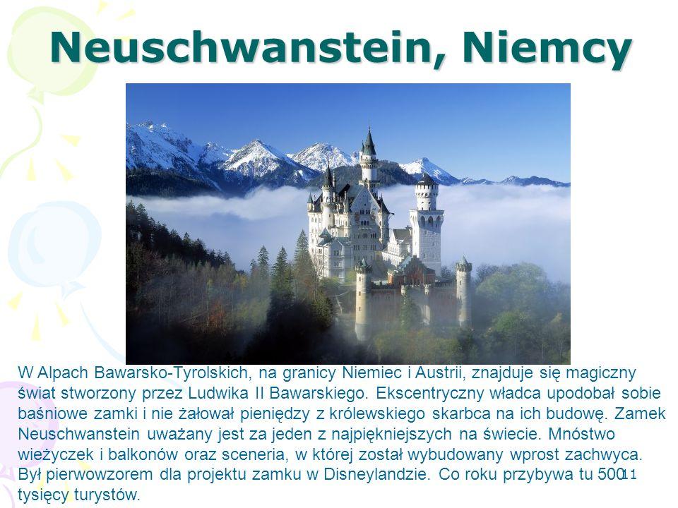 Neuschwanstein, Niemcy W Alpach Bawarsko-Tyrolskich, na granicy Niemiec i Austrii, znajduje się magiczny świat stworzony przez Ludwika II Bawarskiego.