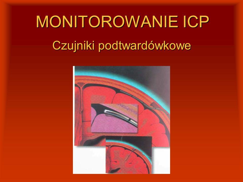 MONITOROWANIE ICP Czujniki podtwardówkowe