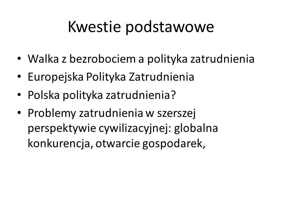 Imitacja Rząd Platformy Obywatelskiej/PSL 2007- 2015 Imitacja Europejskiej Polityki Zatrudnienia, program oparty na zobowiązaniach wobec Unii Europejskiej w ramach Narodowego Planu Rozwoju na lata 2007-2013, Krajowa Strategia Zatrudnienia 2007- 2013 Narodowe Strategiczne Ramy Odniesienia 2007-2013, realizacja Programu Kapitał Ludzki Polityka komplementarna i substytucyjna, nacisk na projekty aktywne i systemowe, zorganizowany dialog społeczny z przewidywaną większą rolą partycypacyjną dla partnerów społecznych (większy udział w monitorowaniu i ewaluacji, projekty własne partnerów społecznych)