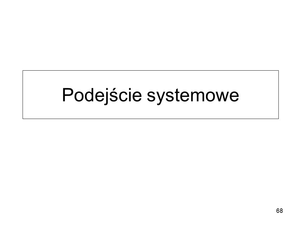 Podejście systemowe 68