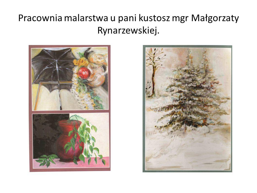Pracownia malarstwa u pani kustosz mgr Małgorzaty Rynarzewskiej.