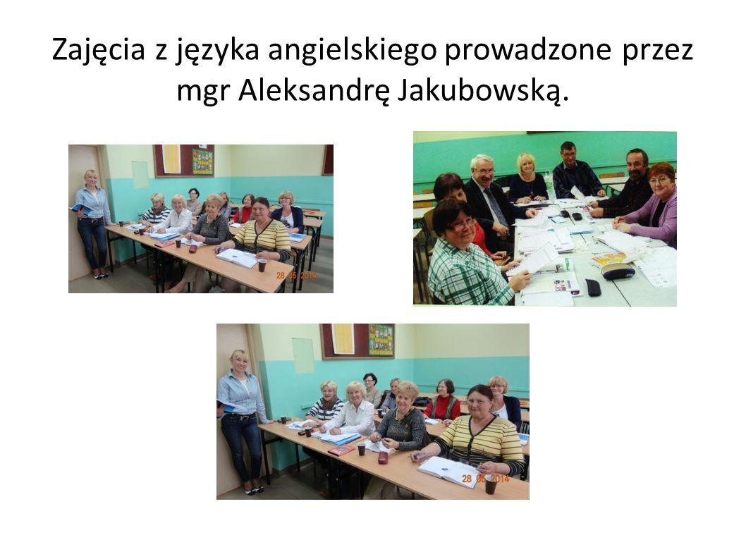 Zajęcia z języka angielskiego prowadzone przez mgr Aleksandrę Jakubowską.