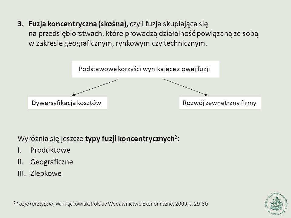 1.Fuzje i przejęcia, W.Frąckowiak, Polskie Wydawnictwo Ekonomiczne, 2009, s.