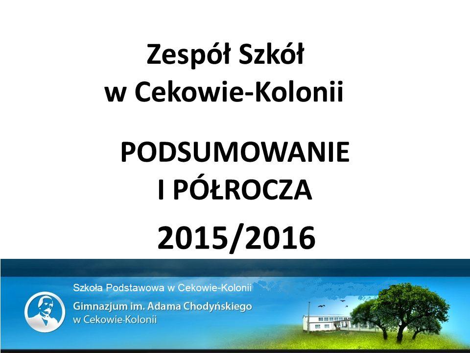 PODSUMOWANIE I PÓŁROCZA 2015/2016 Zespół Szkół w Cekowie-Kolonii
