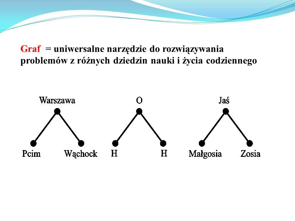 Graf = uniwersalne narzędzie do rozwiązywania problemów z różnych dziedzin nauki i życia codziennego