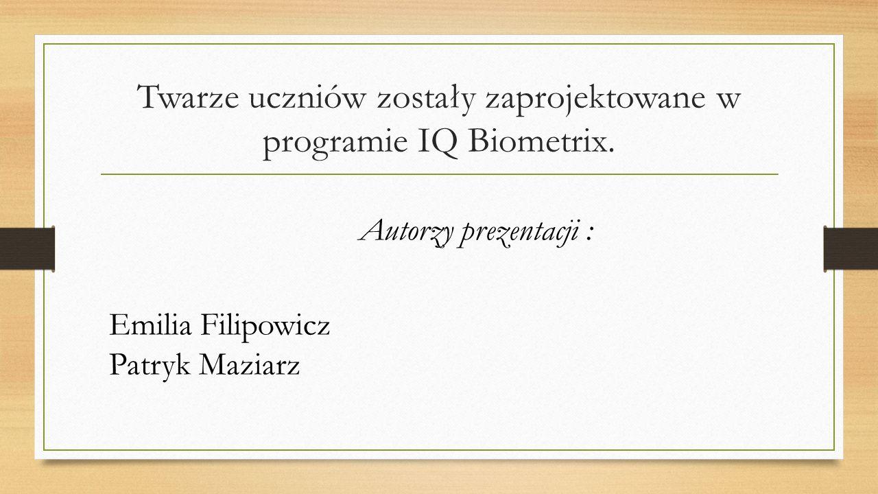 Twarze uczniów zostały zaprojektowane w programie IQ Biometrix.