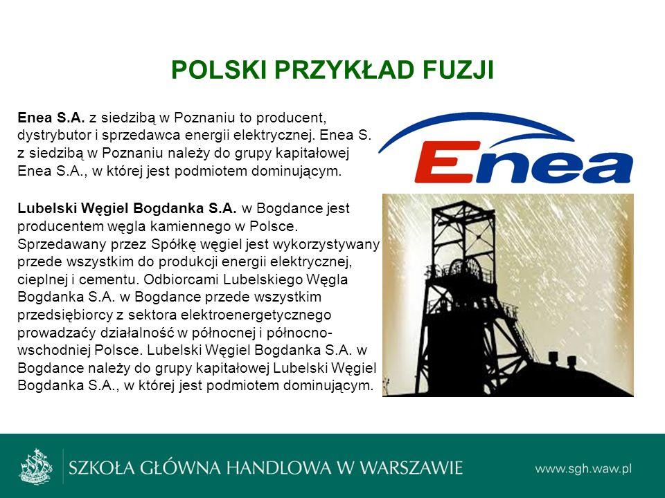 Enea S.A. z siedzibą w Poznaniu to producent, dystrybutor i sprzedawca energii elektrycznej. Enea S.A. z siedzibą w Poznaniu należy do grupy kapitałow