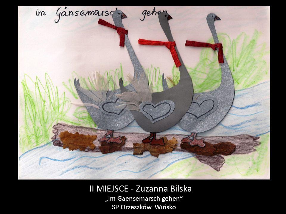 """II MIEJSCE - Zuzanna Bilska """"Im Gaensemarsch gehen SP Orzeszków Wińsko"""