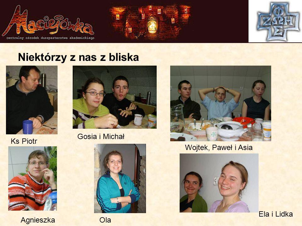 Niektórzy z nas z bliska Ks Piotr Gosia i Michał Wojtek, Paweł i Asia AgnieszkaOla Ela i Lidka