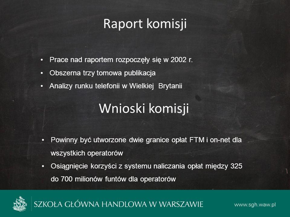 Raport komisji Prace nad raportem rozpoczęły się w 2002 r.