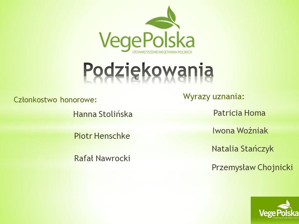 Członkostwo honorowe: Hanna Stolińska Piotr Henschke Rafał Nawrocki Patricia Homa Natalia Stańczyk Wyrazy uznania: Iwona Woźniak Przemysław Chojnicki