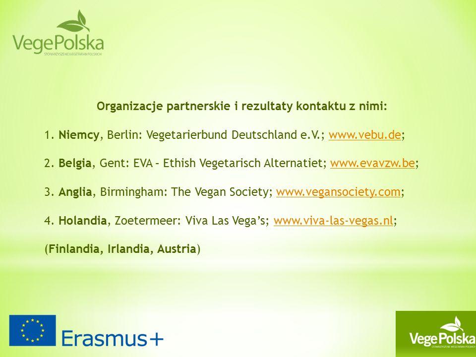 Organizacje partnerskie i rezultaty kontaktu z nimi: 1.