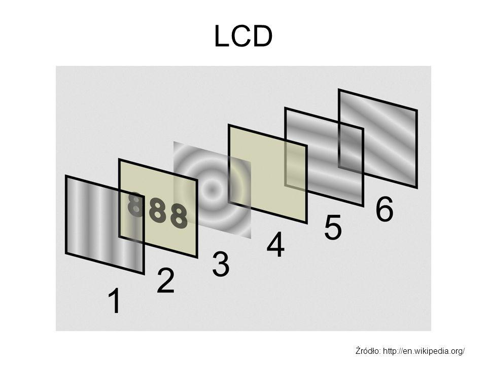 LCD cd Stosowane są dwa podejścia do budowy matryc LCD –Matryce pasywne.
