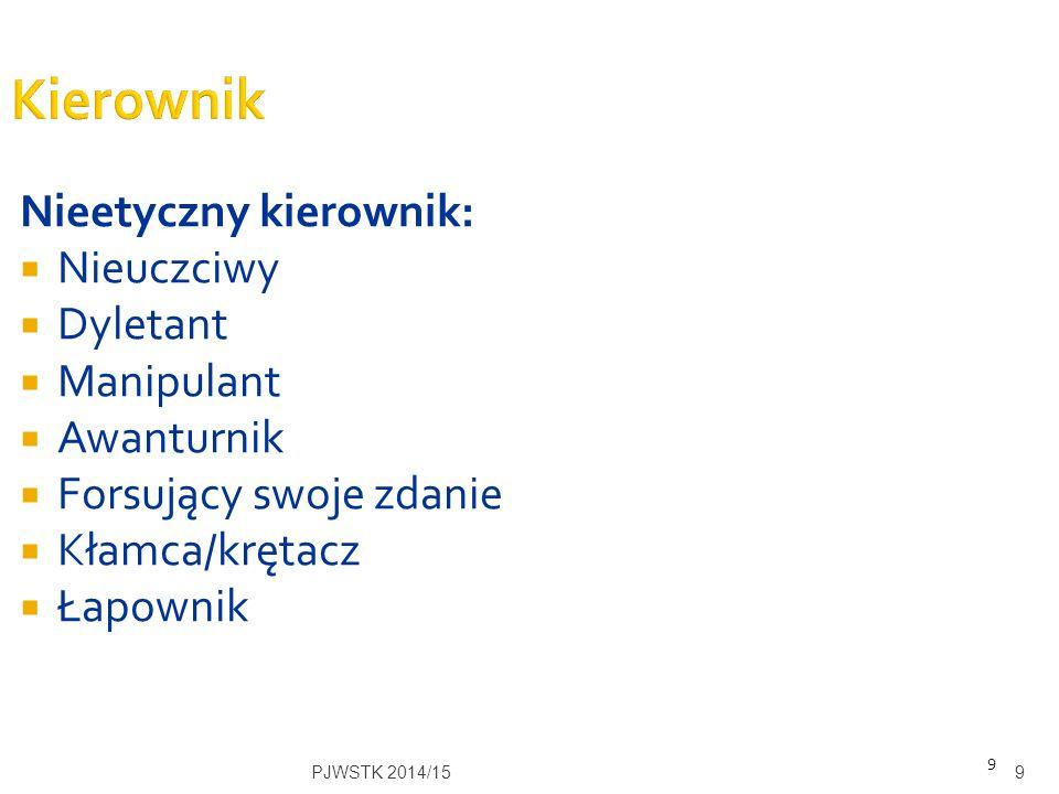  Role kierownicze Kwiatkowskiego PJWSTK 2014/1510