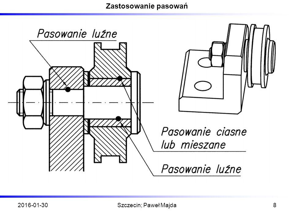 2016-01-30Szczecin; Paweł Majda8 Zastosowanie pasowań