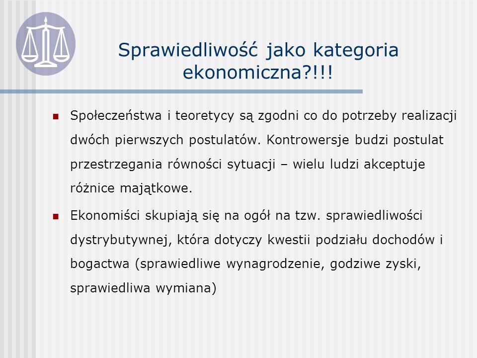 Sprawiedliwość jako kategoria ekonomiczna !!.