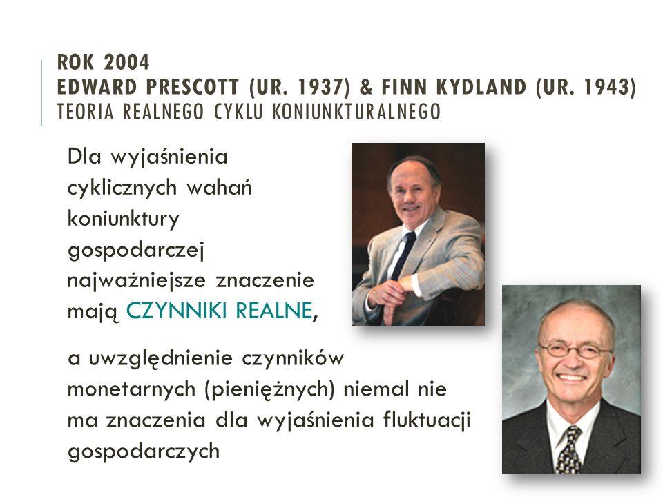 ROK 2004 EDWARD PRESCOTT (UR. 1937) & FINN KYDLAND (UR.