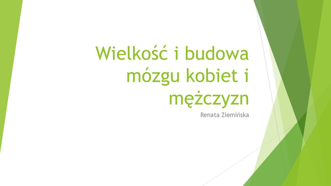 Wielkość i budowa mózgu kobiet i mężczyzn Renata Ziemińska
