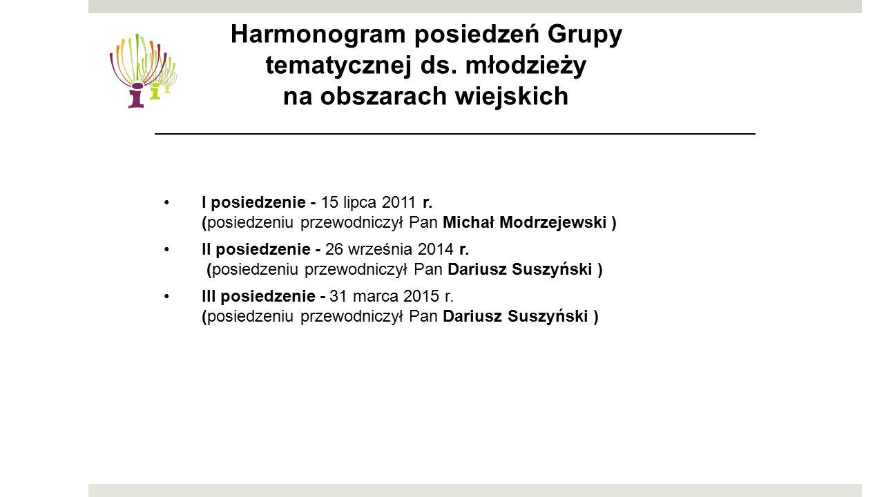 I posiedzenie - 15 lipca 2011 r. (posiedzeniu przewodniczył Pan Michał Modrzejewski ) II posiedzenie - 26 września 2014 r. (posiedzeniu przewodniczył