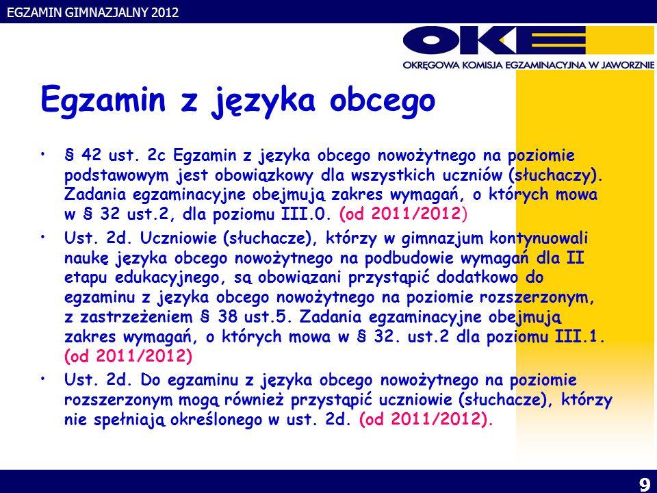 EGZAMIN GIMNAZJALNY 2012 10.§ 35 ust.