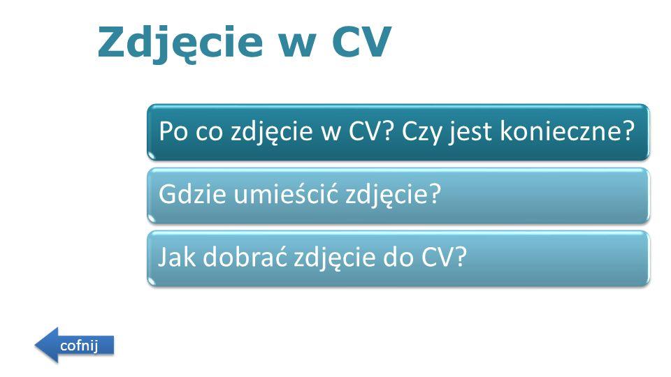 Zdjęcie w CV Po co zdjęcie w CV.