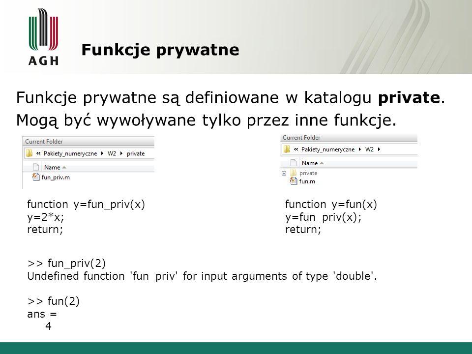 Funkcje prywatne Funkcje prywatne są definiowane w katalogu private.
